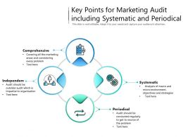 Key Points For Marketing Audit Including Systematic And Periodical