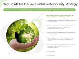 Key Points For The Successful Sustainability Strategy