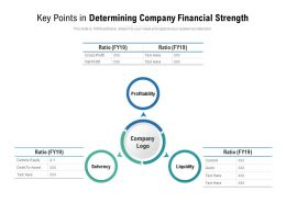 Key Points In Determining Company Financial Strength