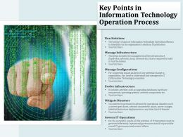 Key Points In Information Technology Operation Process