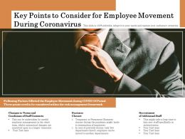 Key Points To Consider For Employee Movement During Coronavirus