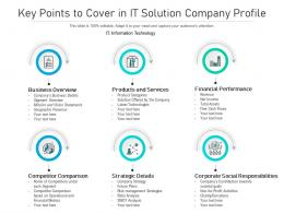 Key Points To Cover In IT Solution Company Profile