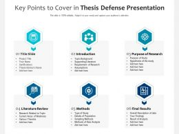 Key Points To Cover In Thesis Defense Presentation