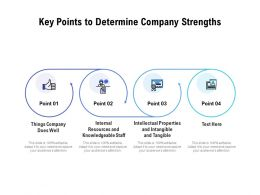 Key Points To Determine Company Strengths
