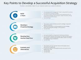 Key Points To Develop A Successful Acquisition Strategy