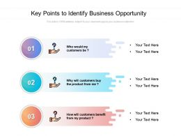Key Points To Identify Business Opportunity