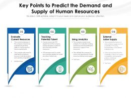 Key Points To Predict The Demand And Supply Of Human Resources