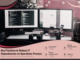 Key Practices To Reduce IT Dependencies On Operations Process