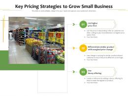 Key Pricing Strategies To Grow Small Business