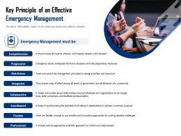 Key Principle Of An Effective Emergency Management