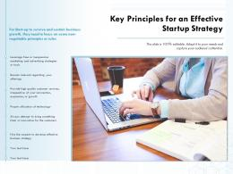 Key Principles For An Effective Startup Strategy