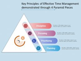Key Principles Of Effective Time Management Demonstrated Through 4 Pyramid Pieces