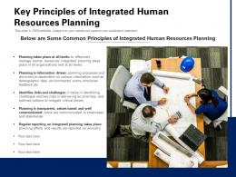 Key Principles Of Integrated Human Resources Planning