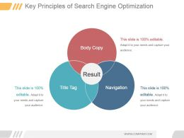 Key Principles Of Search Engine Optimization Powerpoint Slide