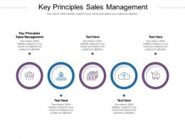 Key Principles Sales Management Ppt Powerpoint Presentation Infographic Template Example Introduction Cpb