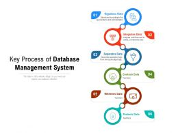 Key Process Of Database Management System