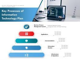 Key Processes Of Information Technology Plan