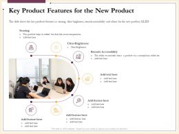Key Product Features For The New Product Sensing Ppt Powerpoint Presentation Professional