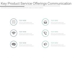 Key Product Service Offerings Communication Ppt Slides