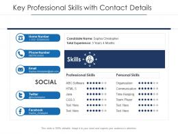 Key Professional Skills With Contact Details