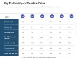 Key Profitability And Valuation Ratios Raise Funding Post IPO Investment Ppt Portfolio
