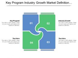 Key Program Industry Growth Market Definition Pricing Sizing