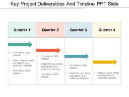 Key Project Deliverables And Timeline Ppt Slide