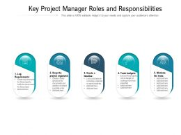 Key Project Manager Roles And Responsibilities