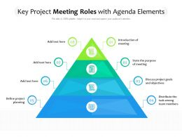 Key Project Meeting Roles With Agenda Elements