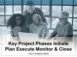 Key Project Phases Initiate Plan Execute Monitor And Close Performance Monitoring Planning