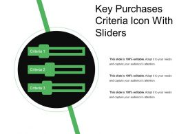 Key Purchases Criteria Icon With Sliders