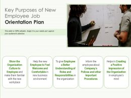 Key Purposes Of New Employee Job Orientation Plan