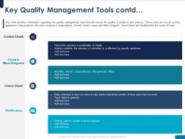 Key Quality Management Tools Contd Effect Powerpoint Presentation Sample