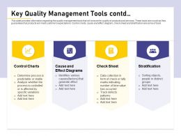 Key Quality Management Tools Contd Track Group Ppt Powerpoint Presentation Show Grid