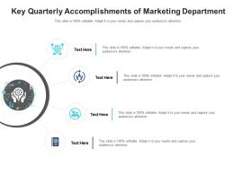 Key Quarterly Accomplishments Of Marketing Department Infographic Template
