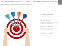 Key Questions For Developing A Mission Statement Powerpoint Slide Show