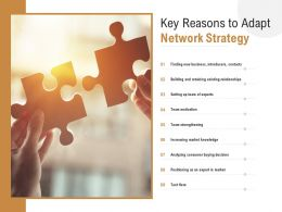 Key Reasons To Adapt Network Strategy