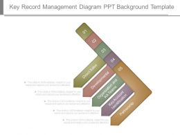 Key Record Management Diagram Ppt Background Template