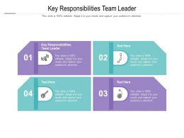 Key Responsibilities Team Leader Ppt Powerpoint Presentation Summary Example Cpb