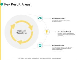 Key Result Areas Business Ppt Powerpoint Presentation Pictures Vector