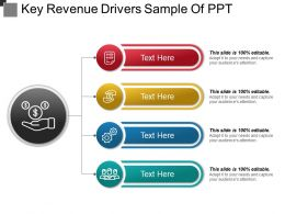 Key Revenue Drivers Sample Of Ppt