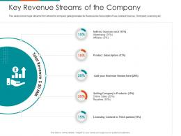 Key Revenue Streams Of The Company Raise Seed Financing From Angel Investors Ppt Layouts Model