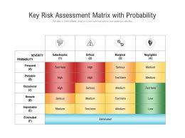Key Risk Assessment Matrix With Probability