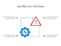 Key Risk Icon With Gear