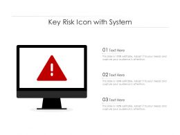 Key Risk Icon With System