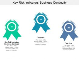 Key Risk Indicators Business Continuity Ppt Powerpoint Presentation Styles Diagrams Cpb