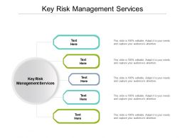 Key Risk Management Services Ppt Powerpoint Presentation Visual Aids Layouts Cpb