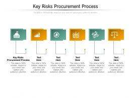 Key Risks Procurement Process Ppt Powerpoint Presentation Show Infographic Template Cpb
