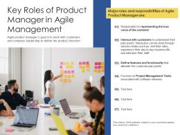 Key Roles Of Product Manager In Agile Management