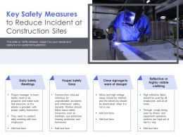 Key Safety Measures To Reduce Incident At Construction Sites